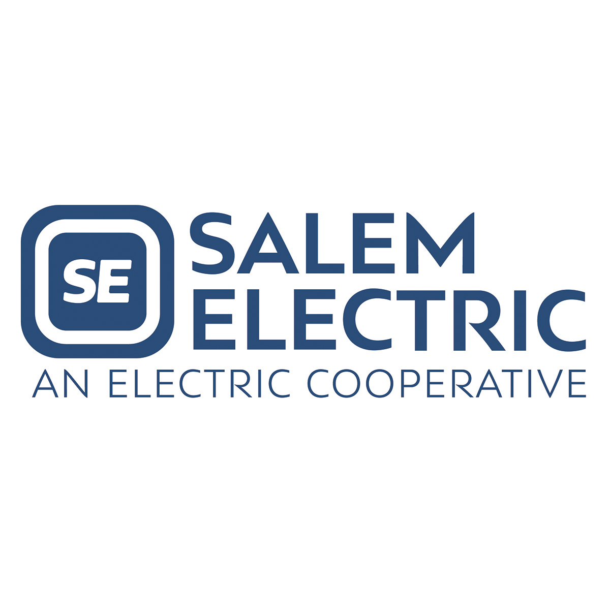 Salem Electric Logo Stacked Blue